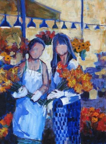 Market Girls, II  (Bouquet Girls) by Marti Lyttle