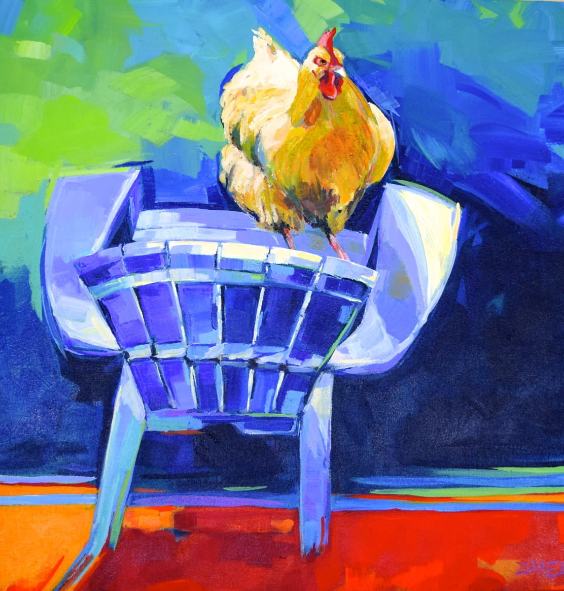 Chicken on a Chair (large view)