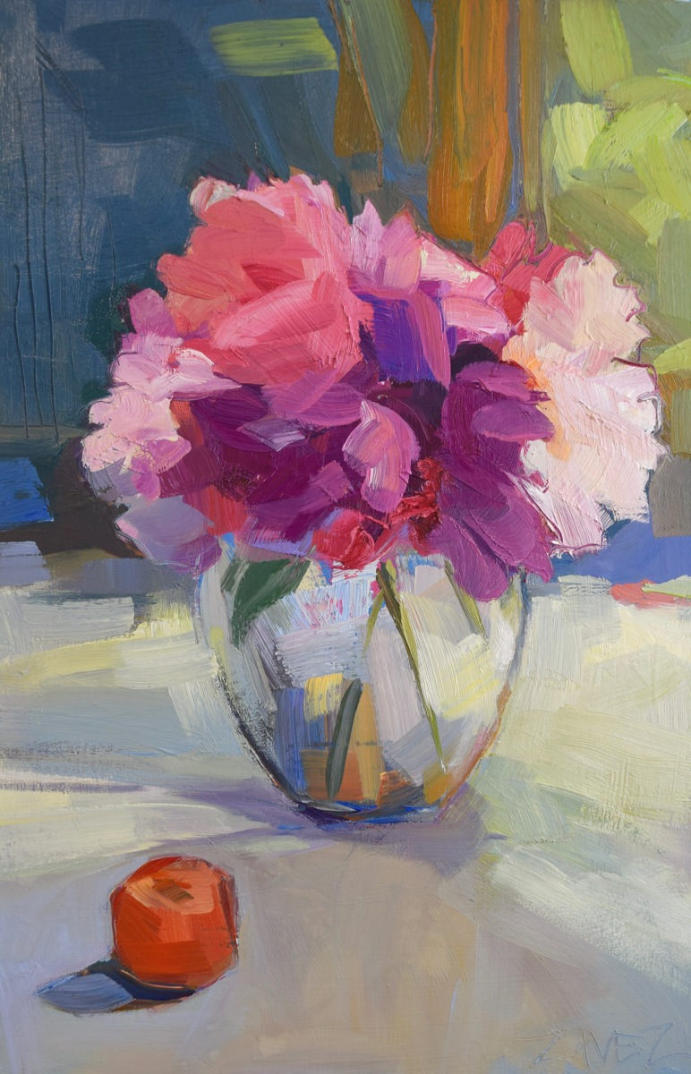 Peonies with Clementine (large view)