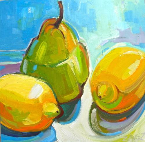 lemons and pear