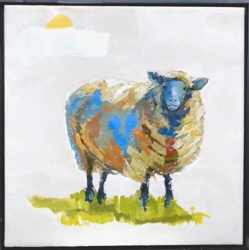 Shaggy Sheep (framed)