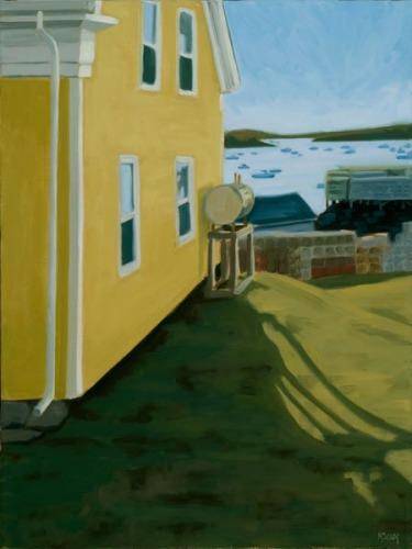 Yellow House, Vinalhaven by Martha Baum
