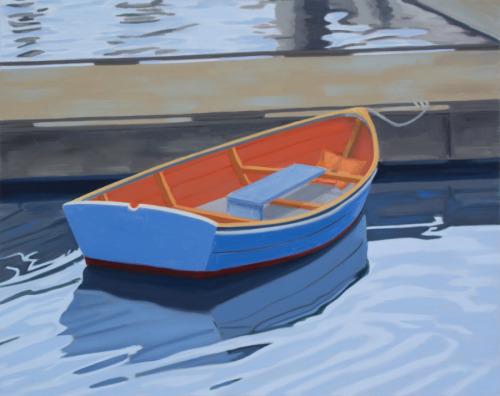 Orange on Blue by Martha Baum