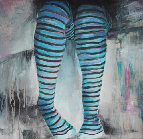 Legs in Blue