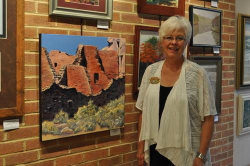 Maryann at FCAA Exhibit Sept, 2011