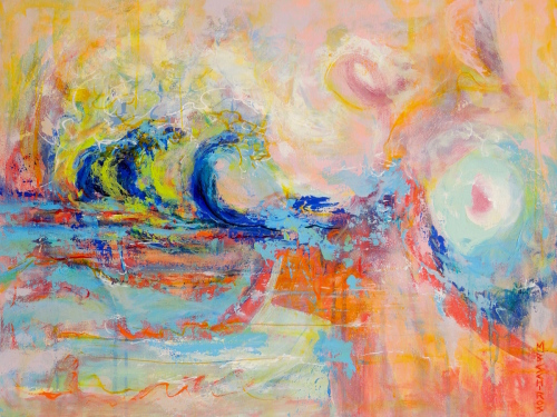 Pastel Wave by Mary Schiros