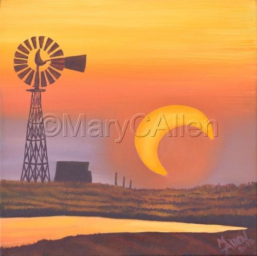 Texas Eclipse Sunset