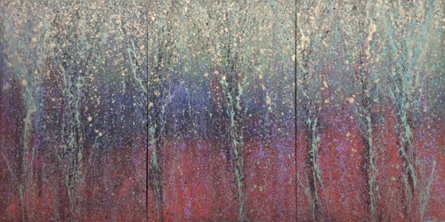 Monet's Forrest A, B & C by MICHAEL TODD SERR