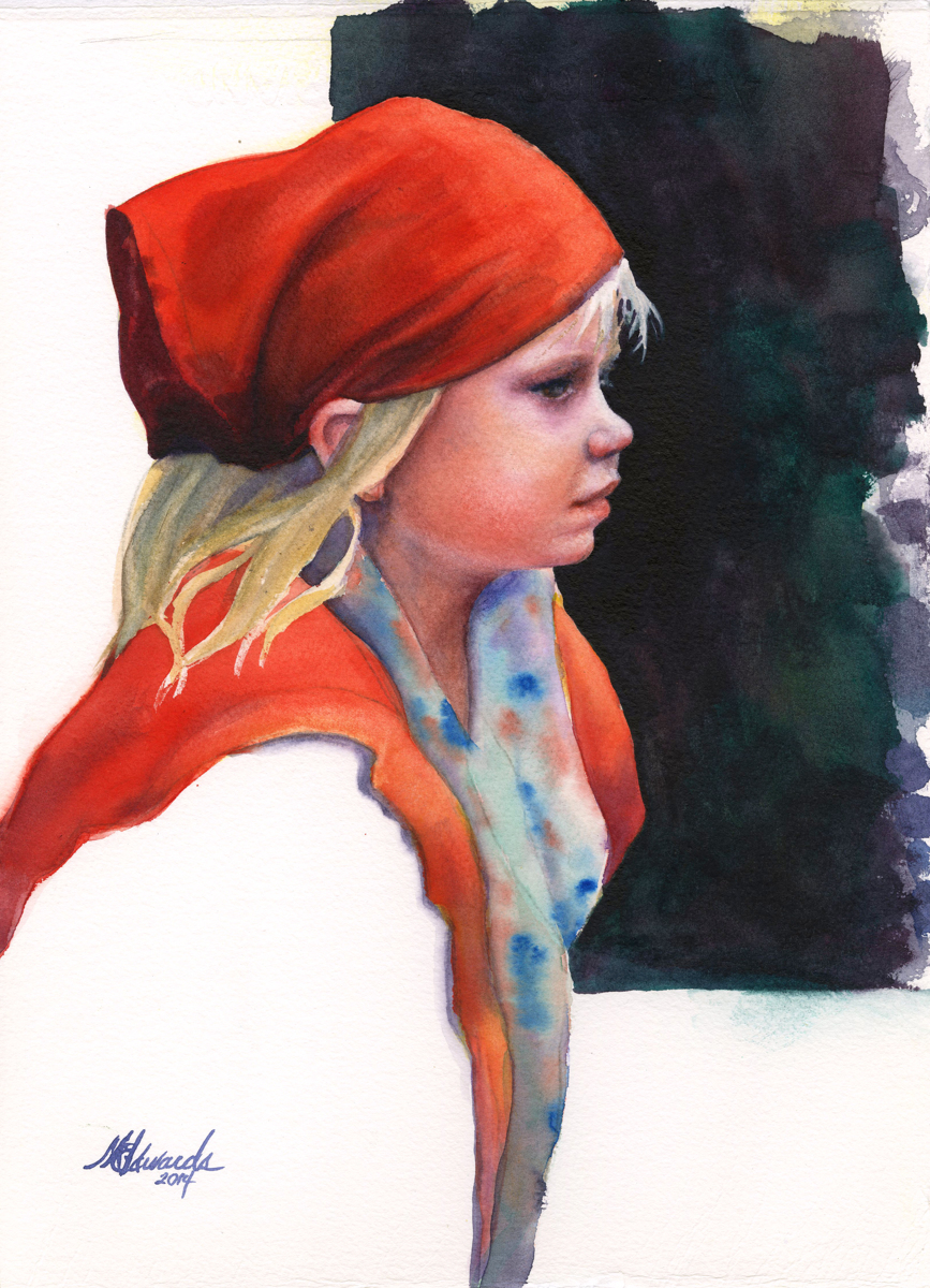 Girl With Red Bandana (large view)