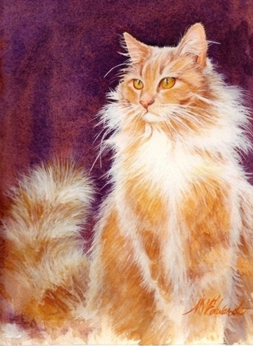 LionKitty by MARY EDWARDS WATERCOLORS