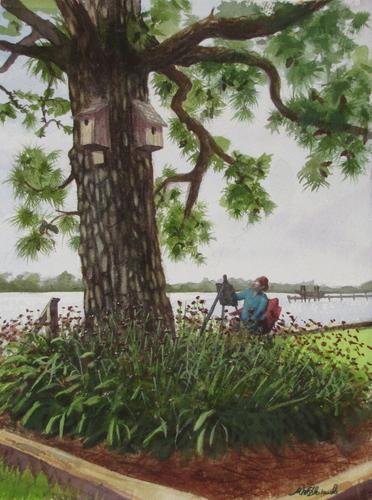 Jackie Painting en plein air