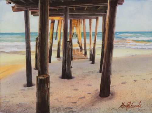 NAGS HEAD PIER V by MARY EDWARDS WATERCOLORS