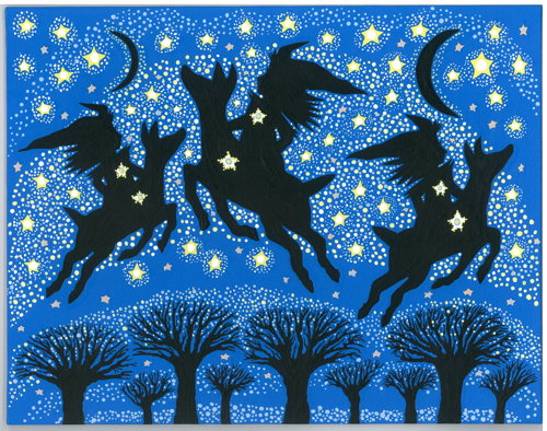 Starry Witches & Deer