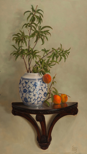 """Peach Branches"" by Mary Kay West Fine Art"