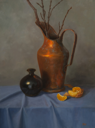 Copper Pitcher with Orange Slice