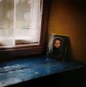 mary mariutto, medium format, photograph,Ireland,  leitrim, Ballinaglera, windowsill - Portrait Photography