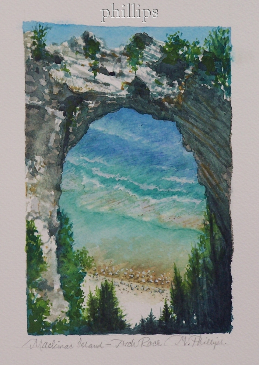 Mackinac Island--Arch Rock (large view)