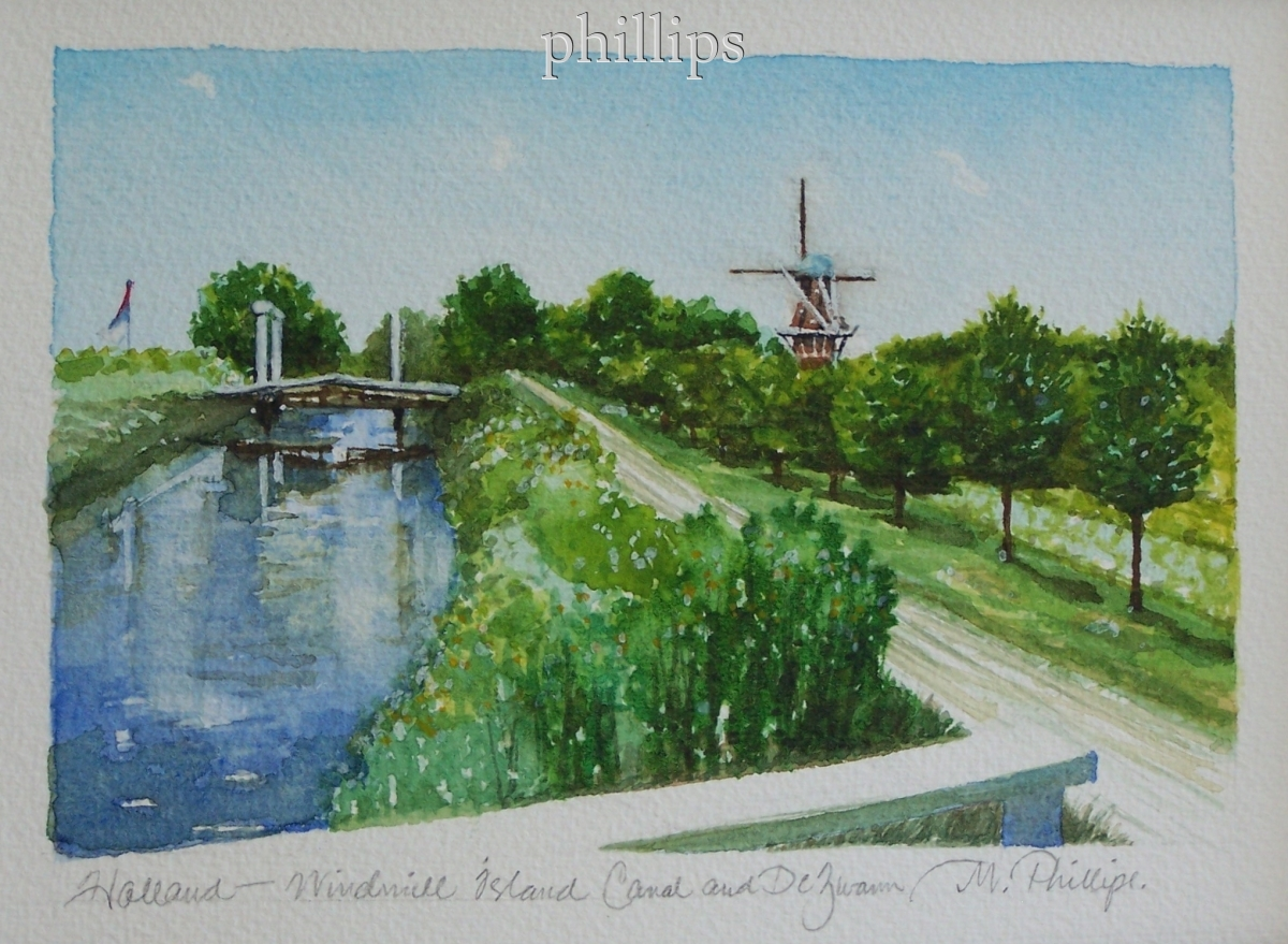 Holland--Windmill Island Canal and DeZwann (large view)