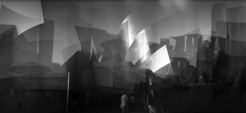 Disney Hall Panorama B&W