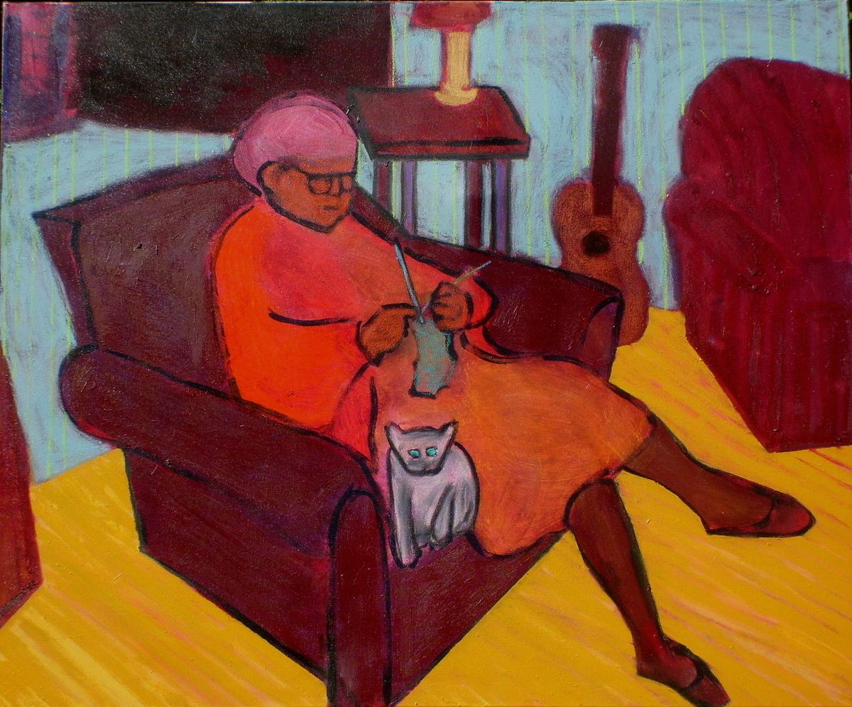 Woman Knitting (large view)