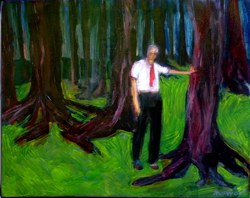 man in the woods (large view)