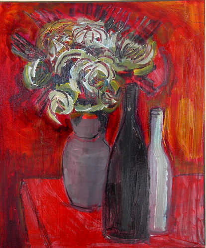 red still life by Marc Awodey