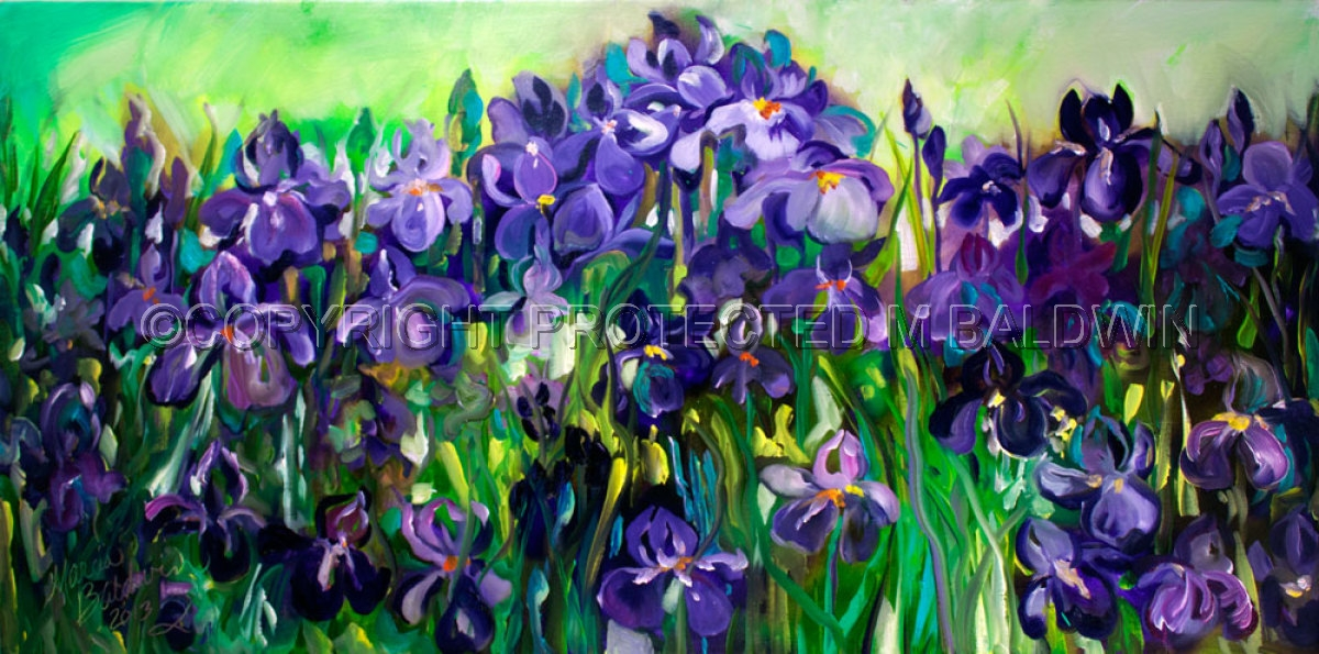 Painting Quot Purple Iris Abstract Quot Original Art By Marcia