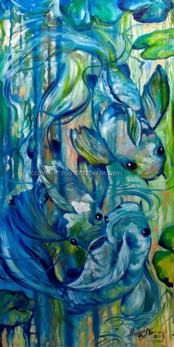Painting    KOI BLUE A...