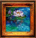 WATERLILY & BUD ~Abstract Technique By M (thumbnail)