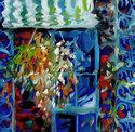 Painting--Oil-LandscapeNEW ORLEANS BALCONY & VINES