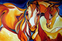 EQUINE ABSTRACT BEYOND by M BALDWIN (thumbnail)