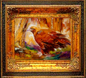 Painting--Oil-WildlifeGOLDEN EAGLE by M BALDWIN