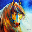 GOLDEN GYPSY VANNER BY M BALDWIN (thumbnail)