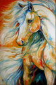THE BOLD ~ equine art by M Baldwin (thumbnail)