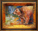 Painting--Oil-WildlifeGRIZZLY BEAR at ROCK CREEK