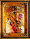 POWER WITHIN EQUINE ABSTRACT by M BALDWI (thumbnail)