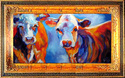 Painting-TWO GUYS MOOING !! A COW ORIGINAL