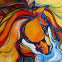 SOUTHWEST ABSTRACT HORSE by M BALDWIN (thumbnail)