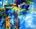 VENICE IN BLUE ~ AN ORIGINAL OIL by M BA (thumbnail)