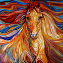 THE POWERFUL ~ AN EQUINE ABSTRACT by M B (thumbnail)