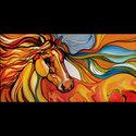SPIRITS SOAR ~ AN ABSTRACT by M BALDWIN (thumbnail)