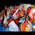 TWO SPIRITS ~ SOUTHWEST EQUINE ABSTRACT (thumbnail)