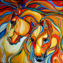 SOUTHWEST ABSTRACT MUSTANGS (thumbnail)