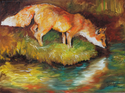 Painting--Oil-AnimalsRED FOX I
