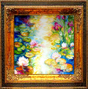 IRIS & WATERLILIES by M BALDWIN (thumbnail)