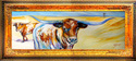 Painting--Oil-AnimalsTEXAS LONGHORNS