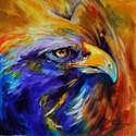 GOLDEN EAGLE ABSTRACT  (thumbnail)