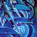 MOTORCYCLE ABSTRACT ROADKING LINEUP  (thumbnail)