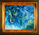 ABSTRACT HORSE in BLUE (thumbnail)