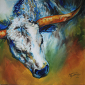 TEXAS LONGHORN ABSTRACT (thumbnail)